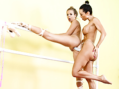Two ballerina are doing some lesbo... lesbian xxx