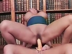 Horny lesbians have fun in library lesbian xxx